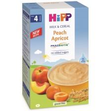 Инстантна млечна каша с пребиотик Hipp - Праскова и кайсия, 250 g -1