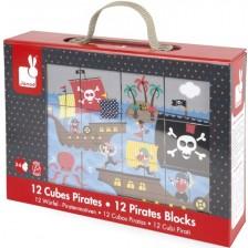 Кубчета Janod Kubkid - Пирати -1