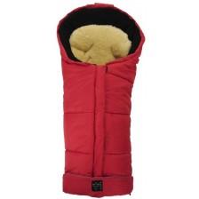 Бебешко чувалче с подложка от овча кожа Kaiser Sheepy - Червено -1