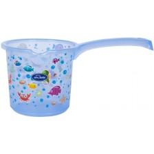 Канче за изплакване Sevi Baby - Морски мотиви, синьо, 1l -1