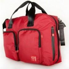 Чанта с отделение за лаптоп Kaiser Worker - Червена -1