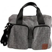 Чанта с отделение за лаптоп Kaiser Worker - Светло черна -1