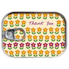 Картичка в консерва  Gespaensterwald  - Thank You, flowers -1