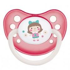 Каучукова залъгалка Canpol Toys - 0-6 месеца, розова -1