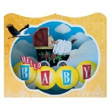 Картичка Gespaensterwald 3D - Hello Baby -1