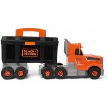 Камион Smoby Black & Decker - Bricolo, с кутия с инструменти -1