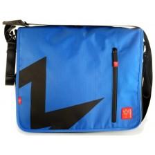 Чанта с отделение за лаптоп Kaiser - Messenger T1, синя -1