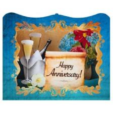 Картичка Gespaensterwald 3D - Happy Anniversary -1