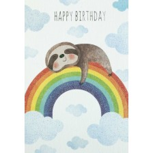 Картичка за рожден ден - Енот -1