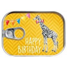 Картичка в консерва Gespaensterwald - Birthday, жираф -1