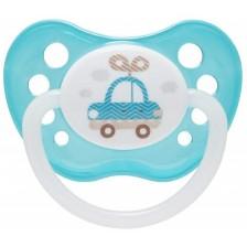 Каучукова залъгалка Canpol - Toys, 0-6 месеца, синя -1