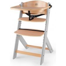 Дървено столче за хранене KinderKraft - Enock, сиво -1