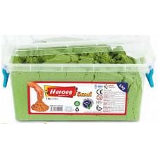 Кинетичен пясък Heroes - Зелен цвят, 3 kg -1