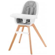 Столче за хранене 2 в 1 KinderKraft Tixi - Сиво -1
