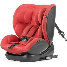 Столче за кола KinderKraft My Way - Червено, с IsoFix, 0-36 kg -1