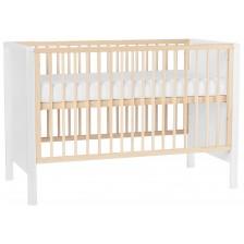 Бебешко креватче KinderKraft MIA - Бяло, с матрак -1