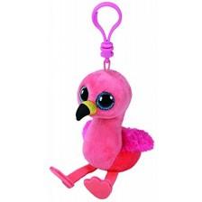 Ключодържател TY Toys Beanie Boos - Розово фламинго Gilda -1