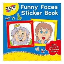 Книжка със стикери Galt - Забавни лица -1