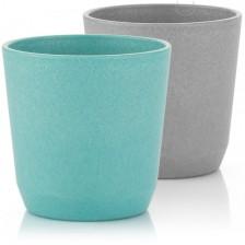 Комплект чашки Reer, 2 броя, синя и сива -1