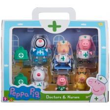 Комплект фигури Peppa Pig - Чичо доктор, 6 броя -1