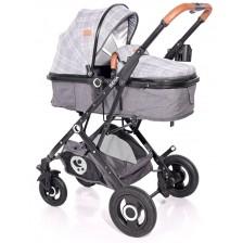 Комбинирана количка Lorelli - Sena, Grey Squared -1