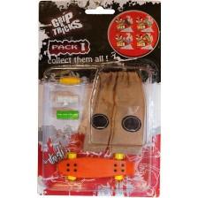 Комплект играчки за пръсти Grip&Trick - Penny Board, оранжев -1