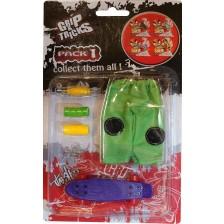 Комплект играчки за пръсти Grip&Trick - Penny Board, лилав -1