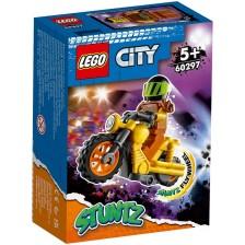 Комплект Lego City Stunt - Каскадьорски мотоциклет за разрушаване (60297) -1