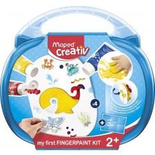 Комплект за рисуване с пръсти Maped Creativ Early Age - 10 части -1