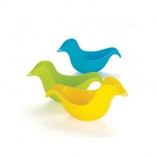 Комплект играчки за баня Skip Hop - Патета, жълто, зелено и синьо -1