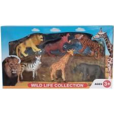 Комплект фигури Ocie - Диви животни, 6 броя, вид 2 -1