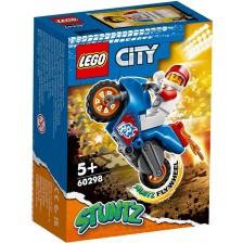 Комплект Lego City Stunt - Каскадьорски мотоциклет ракета (60298) -1