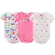 Комплект бодита с къс ръкав Minoti Berry - 3-6 месеца, 3 броя -1