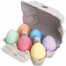 Комплект цветни яйца от тебешир Bigjigs, 6 броя -1