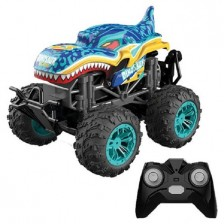 Кола с пара Ocie - Steam Monster Dinosaur Radio/C 1:18, син -1