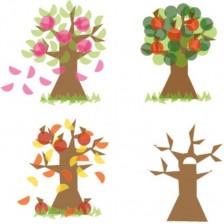 Комплект Haba Education - Стикери за стъкло, сезонно дърво -1
