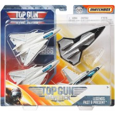 Комплект Mattel Matchbox Top Gun Legends - Самолети, асортимент -1
