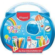 Комплект за рисуване Maped Color Peps - Еarly Age, 23 части, асортимент -1