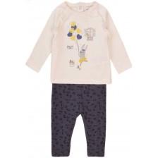 Комплект от блузка и клинче Minoti - Bonjour, 12-18 месеца -1