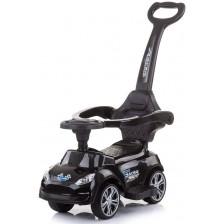 Кола за яздене с дръжка Chipolino - Турбо, черна -1