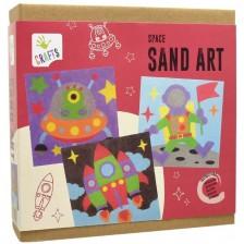 Комплект за рисуване с цветен пясък Andreu toys - Космос -1