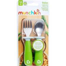 Комплект прибори за хранене Munchkin 2 броя, зелени -1