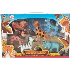 Комплект фигури Ocie - Диви животни, 6 броя -1