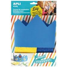 Комплект за декорация Apli - Коронка, синя, с ЕVА пяна -1