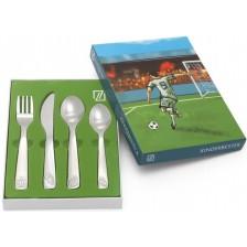 Комплект детски прибори за хранене Zilverstad - Футбол, 4 части -1