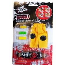 Комплект играчки за пръсти Grip&Trick - Long Board, черен -1