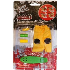 Комплект играчки за пръсти Grip&Trick - Penny Board, зелен -1