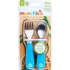 Комплект прибори за хранене Munchkin 2 броя, сини -1
