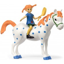 Комплект фигурки Pippi - Пипи Дъгото чорапче и кончето -1