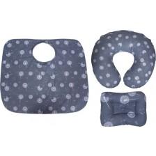 Комплект за кърмене Sevi Baby - 3 части, глухарчета -1